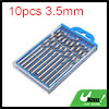 10pcs 3.5mm Dia Stainless Steel Spiral Flute Strai...