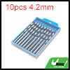 10pcs 4.2mm Dia Stainless Steel Spiral Flute Strai...