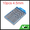 10pcs 4.5mm Dia Stainless Steel Spiral Flute Strai...