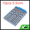 10pcs 5.5mm Dia Stainless Steel Spiral Flute Strai...