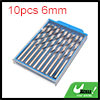 10pcs 6mm Dia Stainless Steel Spiral Flute Straigh...