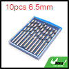 10pcs 6.5mm Dia Stainless Steel Spiral Flute Strai...