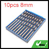 10pcs 8mm Dia Stainless Steel Spiral Flute Straigh...