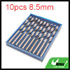 10pcs 8.5mm Dia Stainless Steel Spiral Flute Strai...