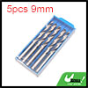 5pcs 9mm Dia Stainless Steel Spiral Flute Straight...