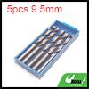 5pcs 9.5mm Dia Stainless Steel Spiral Flute Straig...