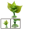 Green Plastic Aquatic Leaves Plant Fishbowl Aquari...