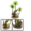 Green Plastic Coconut Tree Aquarium Fish Tank Wate...