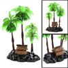 Green Plastic Coconut Tree Aquarium Tank Aquascape...