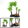 Green Plastic Coconut Tree Aquarium Aquascape Plan...