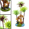 Plastic Coconut Tree Aquarium Fishbowl Aquascape D...