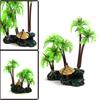 Green Plastic Mini Coconut Tree Aquarium Aquascape...