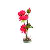 Red Plastic Lotus Flower Plant Aquarium Fishbowl W...