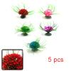 5pcs Plastic Mini Flower Plant Aquarium Fish Tank ...