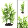 Green Plastic Bamboo Leaves Plant Aquarium Tank Aq...