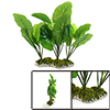Green Plastic Lotus Leaves Plant Aquarium Tank Wat...