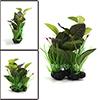 Green Plastic Terrarium Leaves Plant Ornament for ...