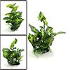 Green Plastic Terrarium Tank Leaves Plant Decorati...