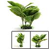 Green Plastic Terrarium Leaves Plant Decor Ornamen...