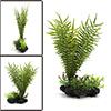 Green Plastic Terrarium Tank Plants Decorative Orn...