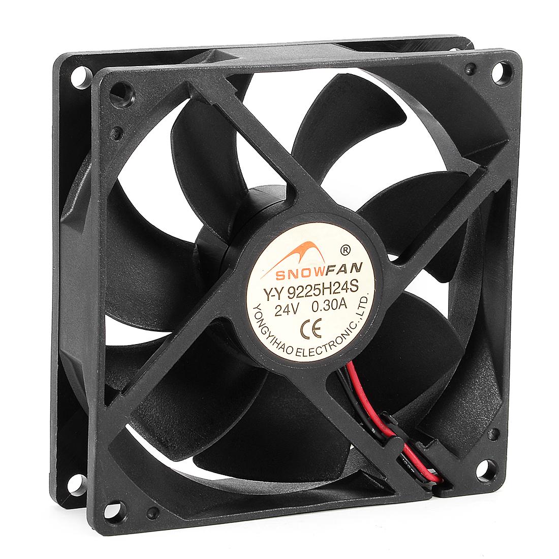 92mm x 92mm x 25mm 24V DC Cooling Fan Long Life HY Bearing Computer Case Fan