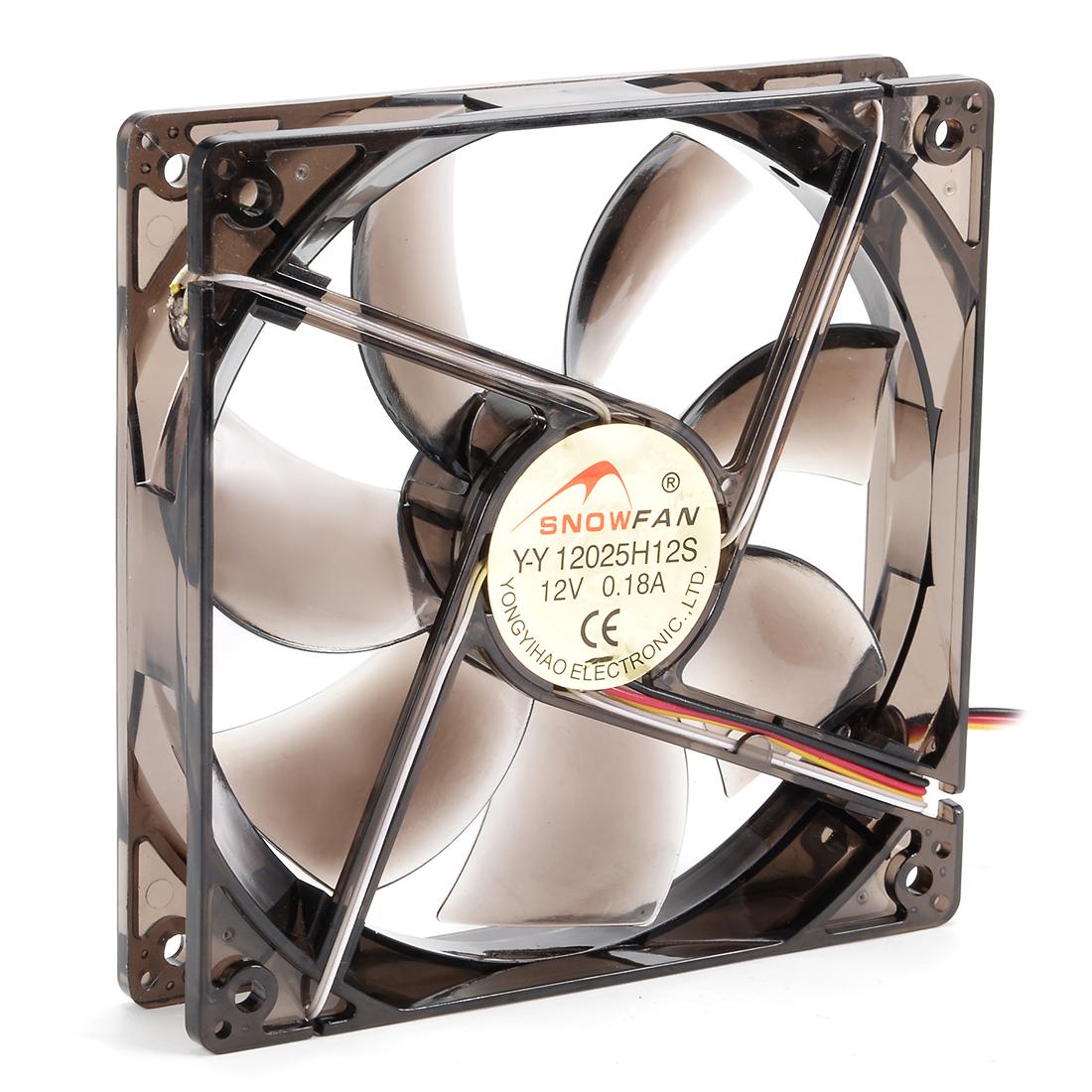 120mm x 120mm x 25mm 12V DC Cooling Fan w Blue LED for Computer Cases