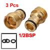 1/2BSP Male Thread Brass Quick Coupler Adapter Pip...