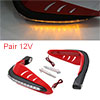 1 Pair Red Shell Yellow LED Light Motorcycle Hand ...