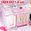 Clear Acrylic Makeup Organizer Cube Cotton Swab Ca...