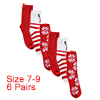 Women 6 Pack Christmas and Holiday Socks Stretchy ...