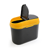 Black Yellow Plastic Dual Open Dust Garbage Trash ...