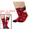 Women 6 Pack Christmas Holiday Socks Baby Gift Cot...