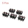 5Pcs 9 Terminal Black 6 Stereo Audio Video Socket ...