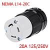 NEMA L14-20C Locking Connector - 20A 125/250V, 3 P...