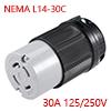 NEMA L14-30C Locking Connector - 30A 125/250V, 3 P...