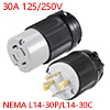L14-30 Locking Plug And Connector Set - 30A 125/25...