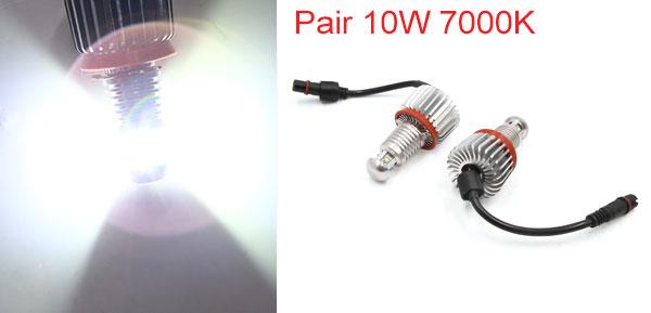 Pair 10W 7000K White LED Error Free Angel Eye Light Bulbs for 09-11 E89 Z4