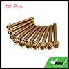 10pcs Gold Tone M6 x 45mm Motorcycle Scooter Titan...