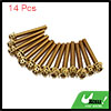 14pcs Gold Tone M6 x 45mm Motorcycle Scooter Titan...