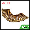 20pcs Gold Tone M6 x 45mm Motorcycle Scooter Titan...
