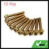 10pcs Gold Tone M6 x 40mm Motorcycle Scooter Titan...