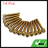 14pcs Gold Tone M6 x 40mm Motorcycle Scooter Titan...