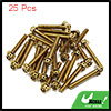 25pcs Gold Tone M6 x 40mm Motorcycle Scooter Titan...