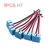 5PCS H7 Ceramic Wire Auto Car Head Light Bulb Sock...