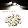 20pcs 12V T8.4 White LED 5050 SMD Car Dashboard Li...