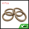 "4Pcs 6.5"" Wood Car Speaker Mounting Spacer Ring Ad..."