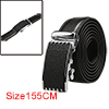 Men Extended Automatic Buckle Dress Leather Belt W...