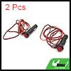 2pcs 1.5m Wire Length Red LED Car Cigarette Lighte...
