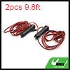 2pcs 9.8ft Wire Length Red LED Car Cigarette Light...