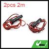 2pcs 2m Wire Length Red LED Car Cigarette Lighter ...